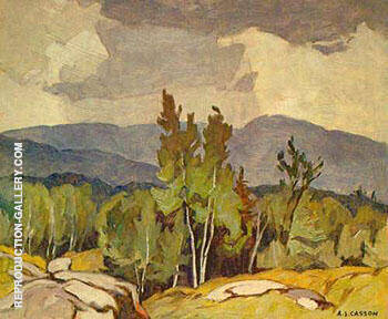 Rockingham By A J Casson - Oil Paintings & Art Reproductions - Reproduction Gallery