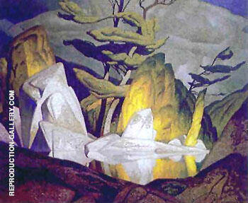 Rock Pool Painting By A J Casson - Reproduction Gallery