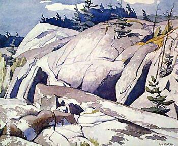 Rock Study By A J Casson