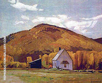 School House at Halfway Lake Painting By A J Casson - Reproduction Gallery