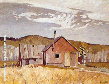 Reproduction of Settlers Cabin by A J Casson | Oil Painting Replica On CanvasReproduction Gallery