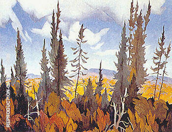 South Portage Painting By A J Casson - Reproduction Gallery
