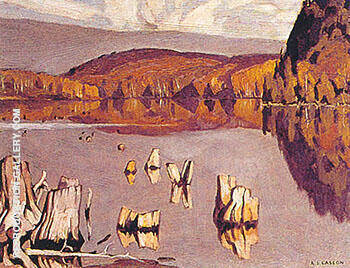 Still Morning A Painting By A J Casson - Reproduction Gallery