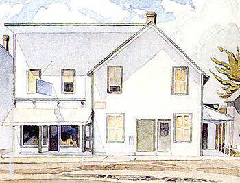 Store in Bancroft By A J Casson Replica Paintings on Canvas - Reproduction Gallery