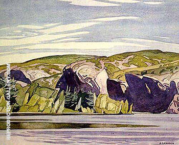 Summer Lake Mazinaw By A J Casson