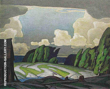 Summer Storm Painting By A J Casson - Reproduction Gallery