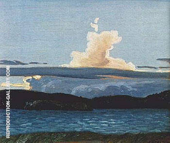 Sunset Algonquin Park By A J Casson - Oil Paintings & Art Reproductions - Reproduction Gallery