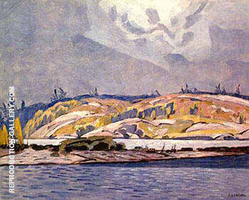 Reproduction of The Channel at Britt by A J Casson | Oil Painting Replica On CanvasReproduction Gallery