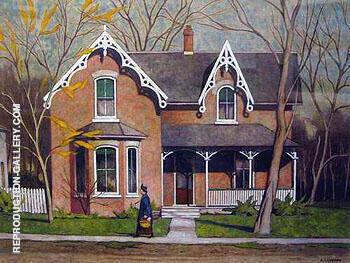 Reproduction of Union Ville by A J Casson | Oil Painting Replica On CanvasReproduction Gallery