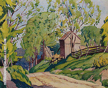 Spring Lasky By A J Casson - Oil Paintings & Art Reproductions - Reproduction Gallery