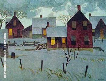 Winter Evening By A J Casson