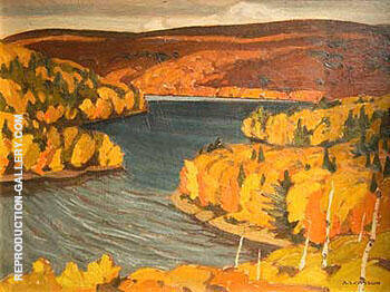 Autumn Redstone Lake 1937 By A J Casson