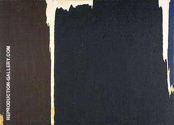 1956 D By Clyfford Still Replica Paintings on Canvas - Reproduction Gallery