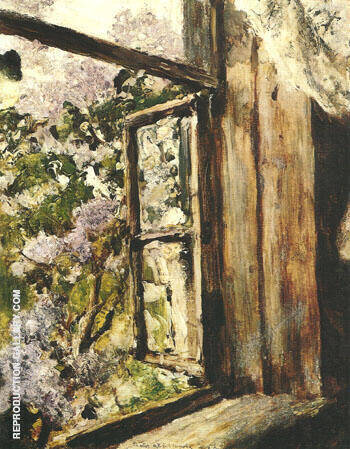 Open Window Lilacs 1886 By Valentin Serov - Oil Paintings & Art Reproductions - Reproduction Gallery