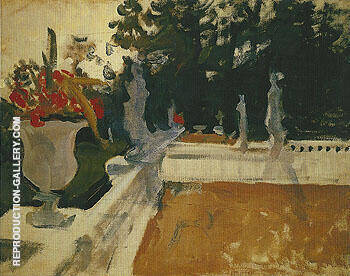 Portico with a Balustrade 1903 By Valentin Serov Replica Paintings on Canvas - Reproduction Gallery