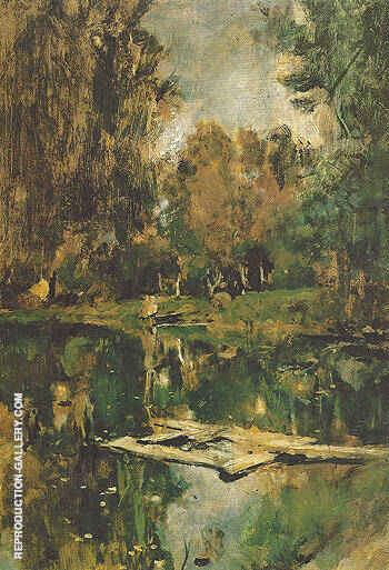 Pond in Abramtsevo 1886 By Valentin Serov
