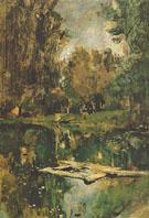 Pond in Abramtsevo 1886 By Valentin Serov