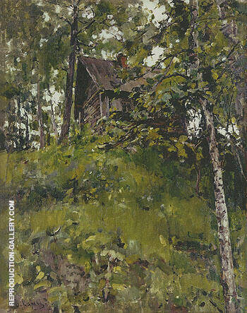 Old Bath House in Domotkanovo 1888 By Valentin Serov - Oil Paintings & Art Reproductions - Reproduction Gallery