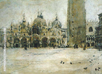 St Mark Square in Venice 1887 By Valentin Serov Replica Paintings on Canvas - Reproduction Gallery