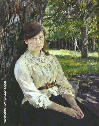 Reproduction of Sunlit Girl Portait of Maria Simonovich 1888 by Valentin Serov | Oil Painting Replica On CanvasReproduction Gallery