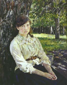 Sunlit Girl Portait of Maria Simonovich 1888 By Valentin Serov