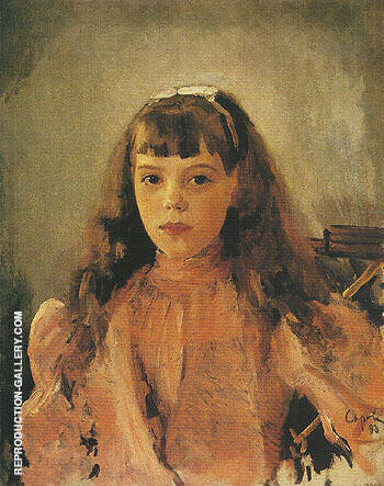 Portrait of Grand Duchess Olga Alexandrovna 1893 By Valentin Serov - Oil Paintings & Art Reproductions - Reproduction Gallery