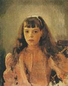 Portrait of Grand Duchess Olga Alexandrovna 1893 By Valentin Serov
