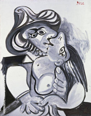 Reproduction of The Kiss c1930 by Pablo Picasso | Oil Painting Replica On CanvasReproduction Gallery