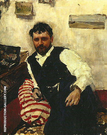 Portrait of Konstantin Kororin 1891 By Valentin Serov - Oil Paintings & Art Reproductions - Reproduction Gallery
