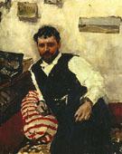 Portrait of Konstantin Kororin 1891 By Valentin Serov