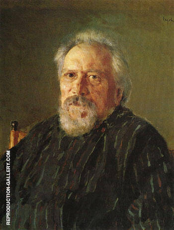 Reproduction of Portrait of Nikolai Semionovich Leskov 1894 by Valentin Serov | Oil Painting Replica On CanvasReproduction Gallery