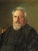 Portrait of Nikolai Semionovich Leskov 1894 By Valentin Serov