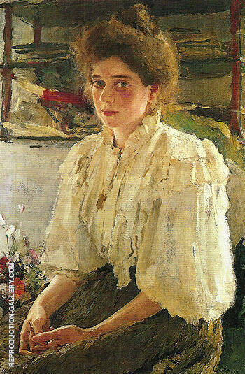 Portrait of Maria lvova 1895 By Valentin Serov - Oil Paintings & Art Reproductions - Reproduction Gallery