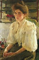 Portrait of Maria lvova 1895 By Valentin Serov