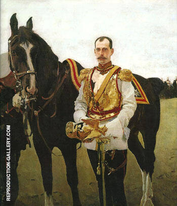 Portrait of Grand Duke Pavel Alexandrovich 1897 By Valentin Serov Replica Paintings on Canvas - Reproduction Gallery