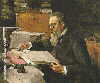 Reproduction of Portrait of Nikolai Andreyevich Rimsky Korsakov 1898 by Valentin Serov | Oil Painting Replica On CanvasReproduction Gallery