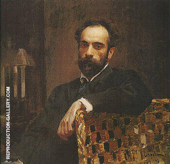 Portrait of Isaac Ilyich Levitan 1893 By Valentin Serov - Oil Paintings & Art Reproductions - Reproduction Gallery