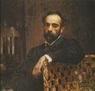 Portrait of Isaac Ilyich Levitan 1893 By Valentin Serov