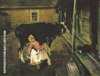 A Finnish Yard 1902 Painting By Valentin Serov - Reproduction Gallery