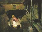 A Finnish Yard 1902 By Valentin Serov