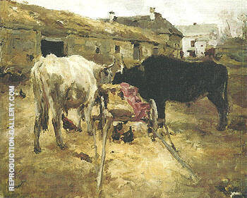 Bullocks 1885 By Valentin Serov Replica Paintings on Canvas - Reproduction Gallery