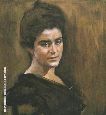Portrait of Sophia Dragomirova Lukomskaya 1900 By Valentin Serov