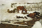 Rinsing Linen On the River 1901 By Valentin Serov