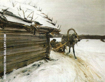 In Winter 1898 Painting By Valentin Serov - Reproduction Gallery