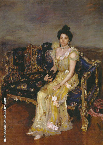 Portrait of Sophia Botkina 1899 By Valentin Serov Replica Paintings on Canvas - Reproduction Gallery
