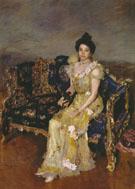 Portrait of Sophia Botkina 1899 By Valentin Serov