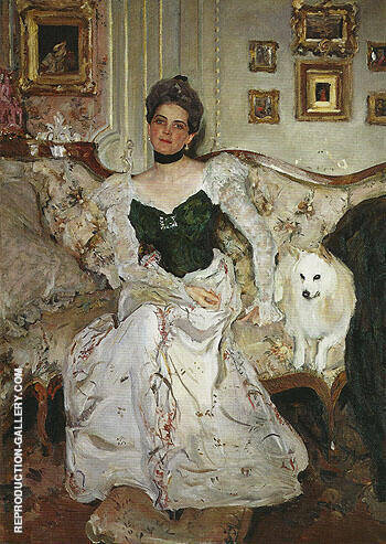 Portrait of Princess Zinaida Yusupova c1900 By Valentin Serov - Oil Paintings & Art Reproductions - Reproduction Gallery
