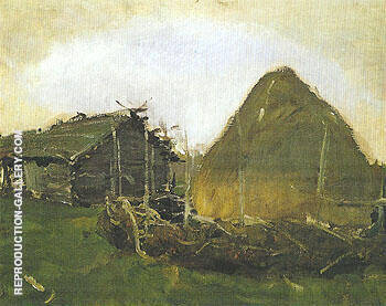 Haystack 1901 By Valentin Serov Replica Paintings on Canvas - Reproduction Gallery