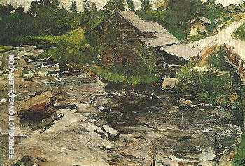 A Mill in Finland 1902 By Valentin Serov - Oil Paintings & Art Reproductions - Reproduction Gallery