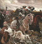 Peter II and Princess Elizabeth Riding to Hounds 1900 By Valentin Serov